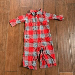 Baby Gap plaid flannel one piece